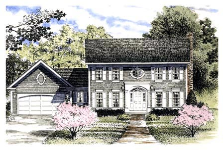 Colonial, Southern House Plan 94141 with 4 Beds, 3 Baths, 2 Car Garage Elevation