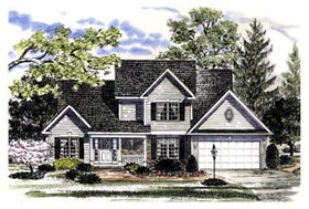 Country House Plan 94142 with 3 Beds, 3 Baths, 2 Car Garage Elevation