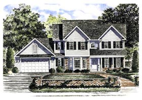 Country House Plan 94143 with 3 Beds, 3 Baths, 2 Car Garage Elevation
