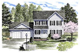 Country House Plan 94144 with 3 Beds, 3 Baths, 2 Car Garage Elevation
