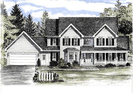 Country House Plan 94145 Elevation