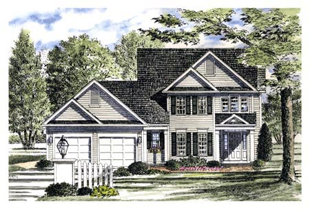 Country House Plan 94149 with 3 Beds, 3 Baths, 2 Car Garage Elevation