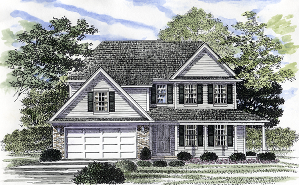 Front Elevation Colonial : Plan familyhomeplans
