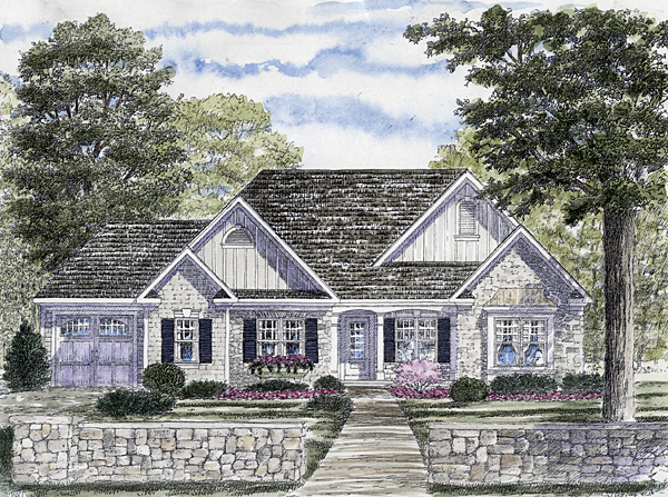 One-Story , Ranch , Elevation of Plan 94157
