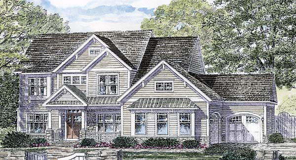 Country Traditional House Plan 94162 Elevation