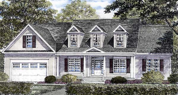 Country Traditional House Plan 94163 Elevation