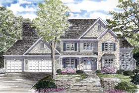 Country Traditional House Plan 94164 Elevation