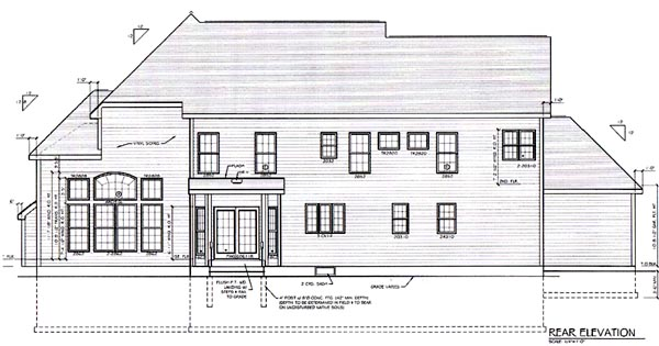 Country Traditional House Plan 94164 Rear Elevation