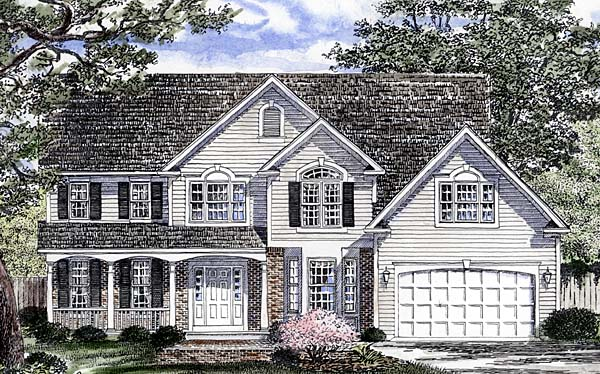 Southern Traditional House Plan 94165 Elevation