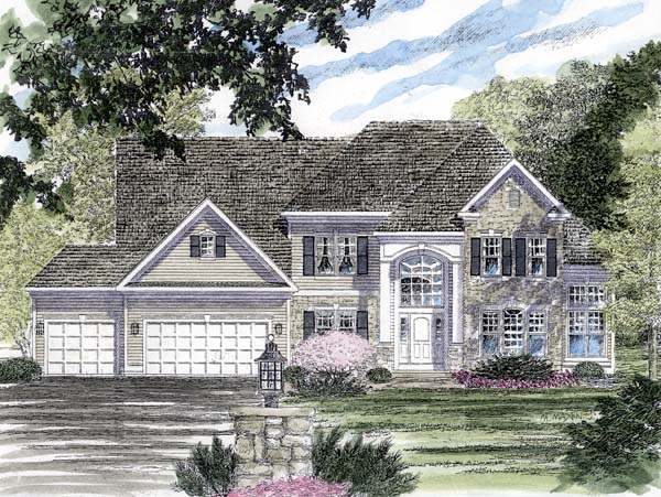 Colonial Traditional House Plan 94166 Elevation