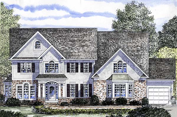 Colonial Traditional House Plan 94168 Elevation