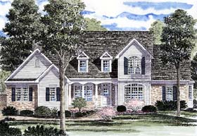Cape Cod Country Traditional House Plan 94169 Elevation