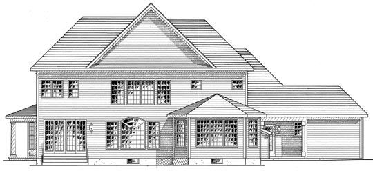 House Plan 94170 | Country Traditional Style Plan with 3859 Sq Ft, 4 Bedrooms, 5 Bathrooms, 3 Car Garage Rear Elevation