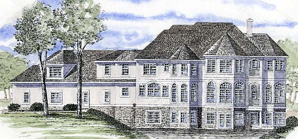Traditional House Plan 94172 Rear Elevation