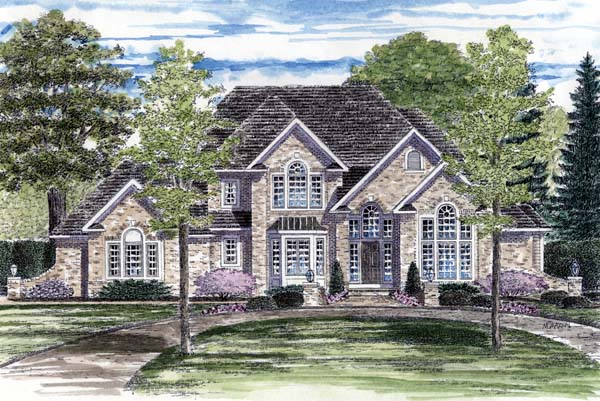 European Tudor House Plan 94174 Elevation