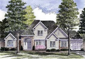 European , Tudor House Plan 94175 with 3 Beds, 3 Baths, 3 Car Garage Elevation
