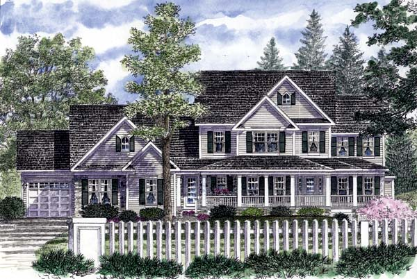 Country Farmhouse House Plan 94178 Elevation