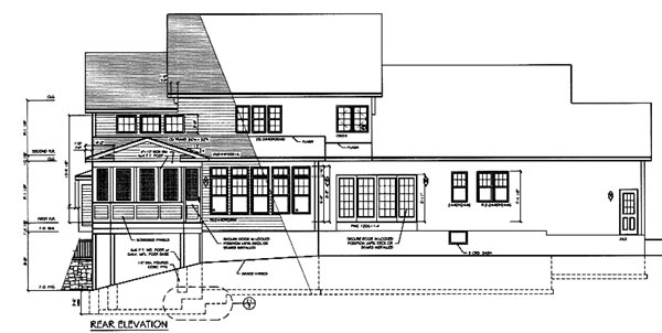 Country Farmhouse House Plan 94178 Rear Elevation