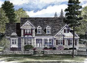 Country , European House Plan 94179 with 3 Beds, 3 Baths, 3 Car Garage Elevation