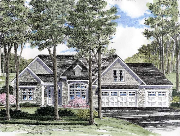 Cottage Ranch Traditional Elevation of Plan 94183