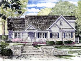 House Plan 94186 | Ranch Traditional Style Plan with 2857 Sq Ft, 3 Bedrooms, 3 Bathrooms, 2 Car Garage Elevation