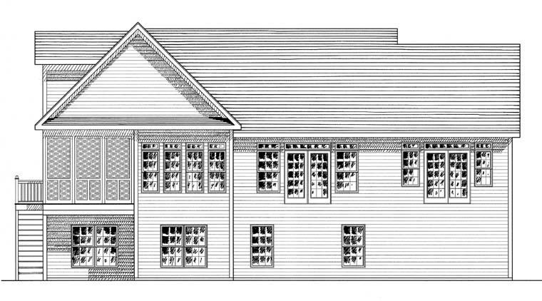 Ranch Traditional House Plan 94186 Rear Elevation