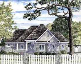 House Plan 94187 | Cottage Ranch Traditional Style Plan with 2980 Sq Ft, 4 Bedrooms, 3 Bathrooms, 2 Car Garage Elevation