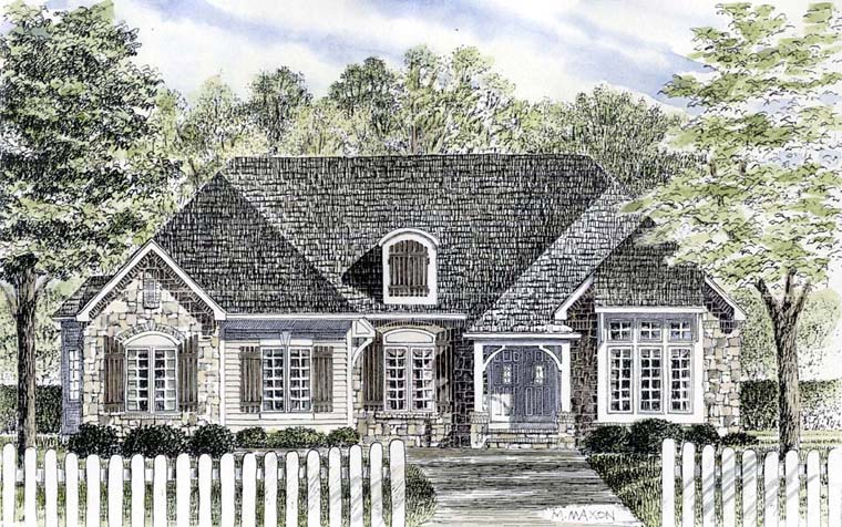 Bungalow, Cottage, Country, Craftsman, Ranch House Plan 94189 with 3 Beds, 2 Baths, 2 Car Garage Elevation