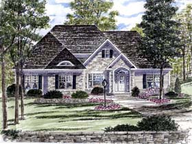 Ranch Traditional House Plan 94191 Elevation