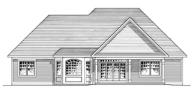 Ranch Traditional House Plan 94191 Rear Elevation