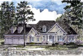 Country Ranch Traditional House Plan 94192 Elevation