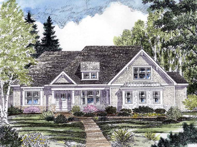 Cottage Country Craftsman Ranch Traditional House Plan 94193 Elevation
