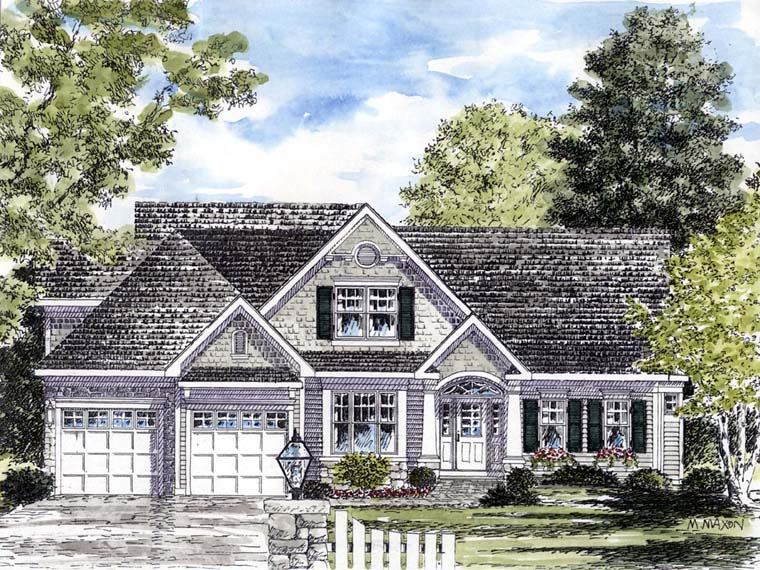 Coastal Country Traditional House Plan 94194 Elevation