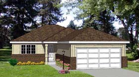 Traditional House Plan 94303 with 2 Beds, 2 Baths Elevation