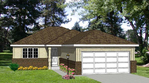 Traditional Elevation of Plan 94303