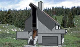 Contemporary House Plan 94305 Elevation