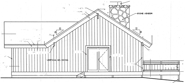 Cabin House Plan 94307 Rear Elevation