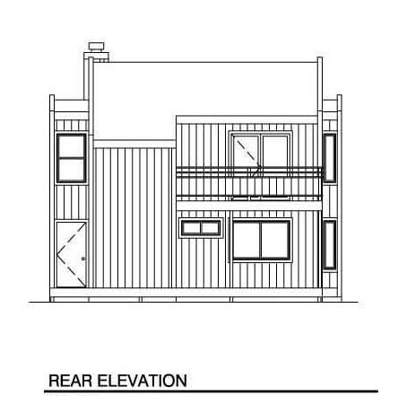 Contemporary House Plan 94311 Rear Elevation