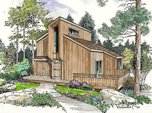 Contemporary House Plan 94312 with 2 Beds, 2 Baths Picture 4
