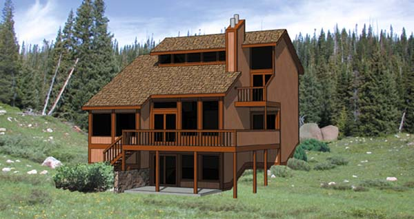 Contemporary House Plan 94314 Rear Elevation
