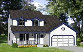 Country House Plan 94316 with 4 Beds, 3 Baths, 2 Car Garage Elevation