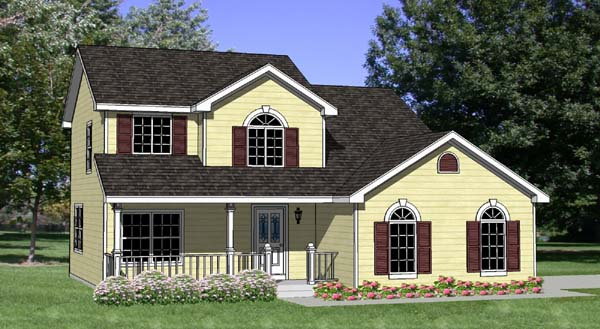 Country House Plan 94318 Elevation