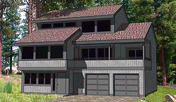 Contemporary House Plan 94334 Elevation