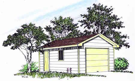 Garage Plan 94335 | Style Plan, 1 Car Garage Elevation