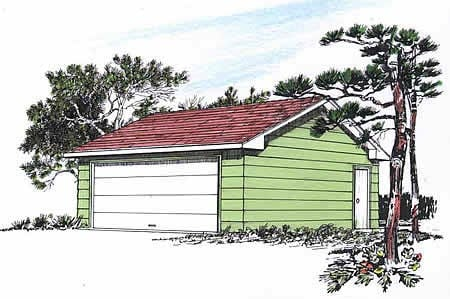 Garage Plan 94336 | Style Plan, 2 Car Garage Elevation