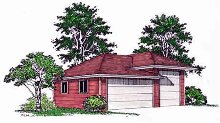 3 Car Garage Plan 94339, RV Storage Front Elevation