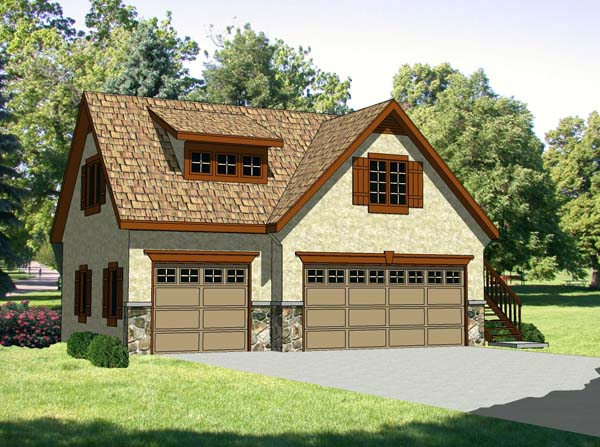 Garage Plan 94342 Elevation
