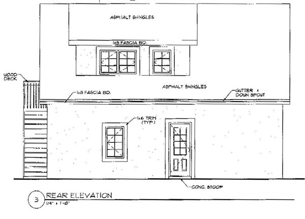 Garage Plan 94342 Rear Elevation