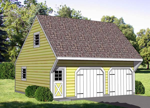 2 Car Garage Plan 94344 Elevation