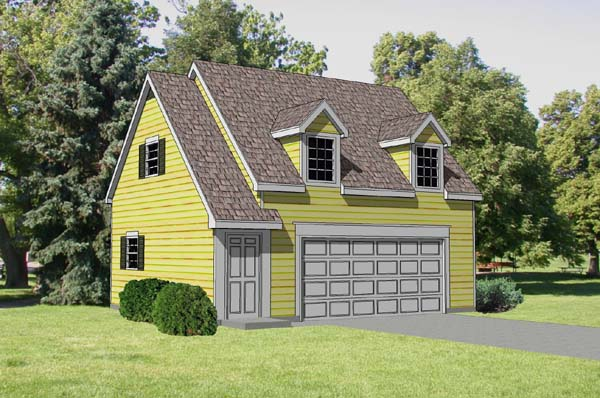 Garage Plan 94345 Elevation